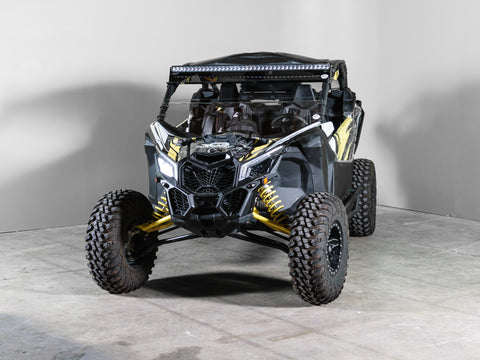 "Can-Am Maverick X3 No Intrusion Half UTV Windshield 3/16"" Scratch Resistant with Tinted Visor"