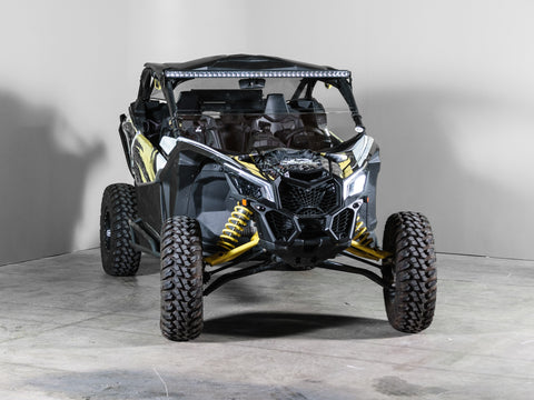 "Can-Am Maverick X3 No Intrusion Half UTV Windshield 3/16"" Scratch Resistant"