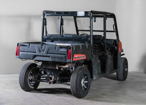 "Polaris Ranger Mid Size 570 Back UTV Windshield 3/16"" - Scratch Resistant - Model 2015+ Pro Fit Cage"