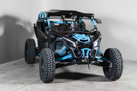 Can-Am Maverick X3 With Intrusion Bars and Visor Half UTV Windshield 3/16""