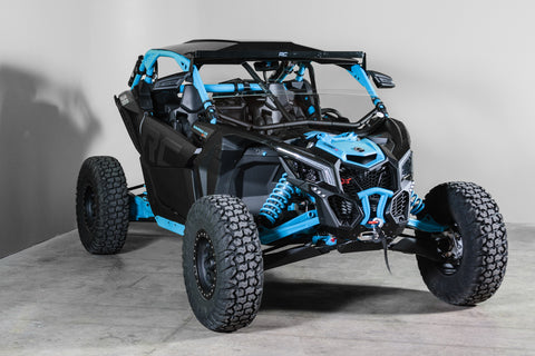 Can-Am Maverick X3 With Intrusion Bars Half UTV Windshield 3/16""