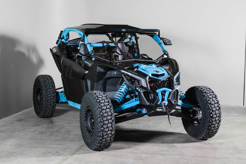 "Can-Am Maverick X3 With Intrusion Bars Full UTV Windshield 1/4"" - Scratch Resistant"