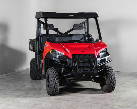 "Polaris Ranger 570/900/1000 Half UTV Windshield 3/16"" - Scratch Resistant - Pro Fit Cage"