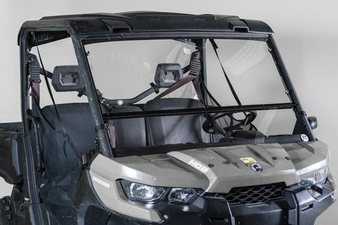 "Can-Am Defender Full Tilting Windshield 3/16"" Scratch Resistant"