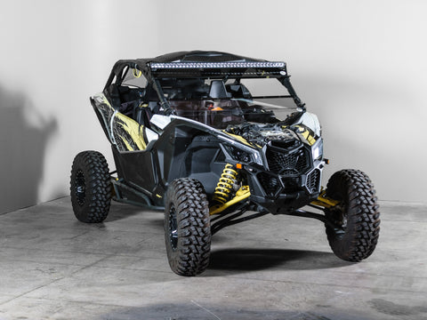 "Can-am Maverick X3 No Intrusion Full Tilting UTV Windshield 3/16"" Scratch Resistant with Tinted Visor"