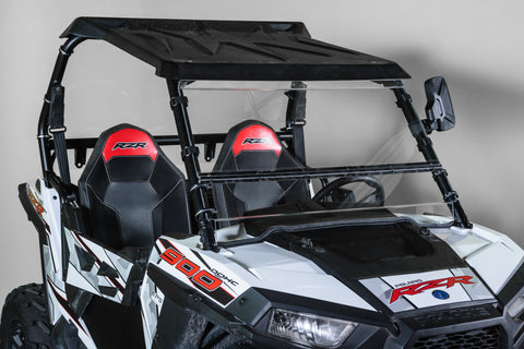 "Polaris RZR 900 Full Tilting UTV Windshield 3/16"" - Scratch Resistant - Models 2015+"
