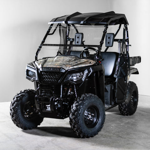 "Honda Pioneer 500 Full Tilting UTV Windshield 3/16"" - Scratch Resistant - Models 2016 & older"