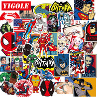 Super Heroes Waterproof Stickers (60 pieces/lot)
