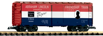 PIKO #3885: CB&Q Friendship Train Boxcar