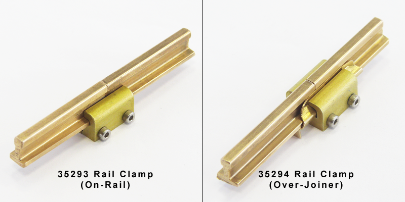 PIKO rail clamps - 2 styles