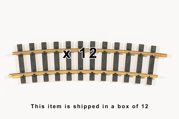 "35215 Box of 12, R5 1240mm Radius Curve Track, 48.8""R (G-Scale)"