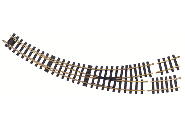 35224 Manual Curved Switch Left R3-R5 Track (G-Scale)