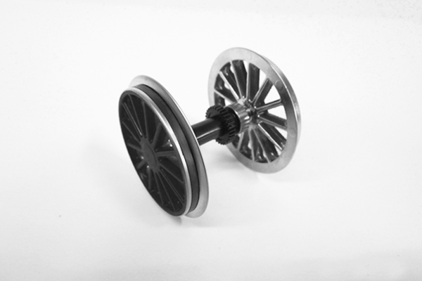 36081 Ball Bearing Traction Wheelset: BR194, Black (G-Scale)
