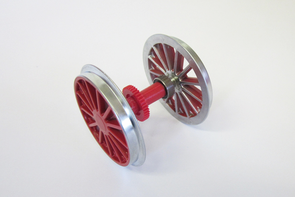 36084 Ball Bearing Plated Wheelset: BR194, Red (G-Scale)