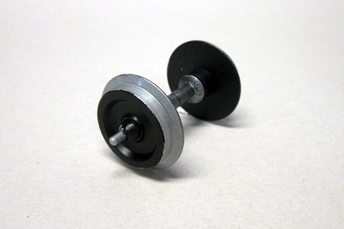 36165 Metal Wheelset: 35mm Plated, 2 pcs - Fits Most European Cars (G-Scale)