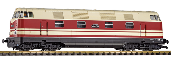 37576 DR III BR V180 Diesel Locomotive, 4-axle, w/Sound (G-Scale)