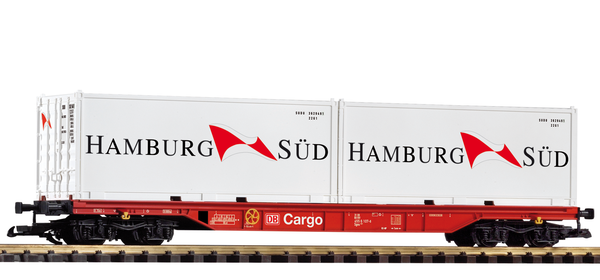 37750 DB VI Flatcar with Hamburg Sud Containers (G-Scale)
