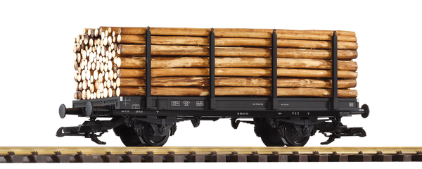 37781 DB III 2-Axle Flatcar with Log Load (G-Scale)