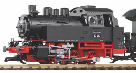 38125 DR BR80 Passenger Starter Set w/ Analog Sound and Smoke (G-Scale)