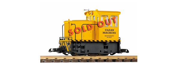 38501 Clean Machine GE 25-Ton Track Cleaning Locomotive (G-Scale)