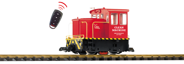 38506 Clean Machine R/C GE 25-Ton Track Cleaning Locomotive (G-Scale)