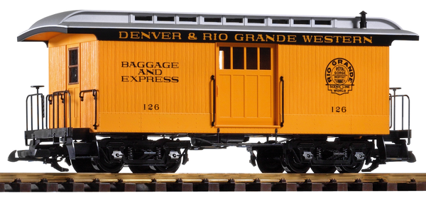 38603 D&RGW Wood Baggage Car #126 (G-Scale)