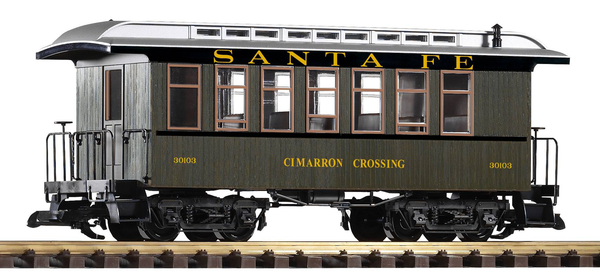 38611 Santa Fe Wood Coach #30103 (G-Scale)