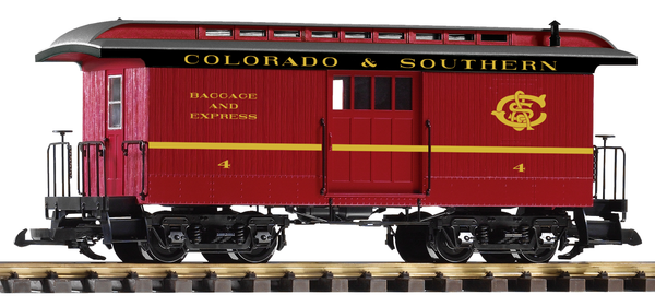 38647 C&S Wood Baggage Car (G-Scale)