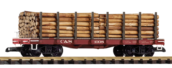 38745 Colorado & Southern Flatcar w/ Log Load (G-Scale)