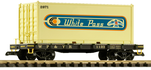 38751 WP&YR #1123 Container Car (G-Scale)