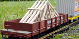 38754 PRR Low-Side Gondola w/ Roof Trusses (G-Scale)