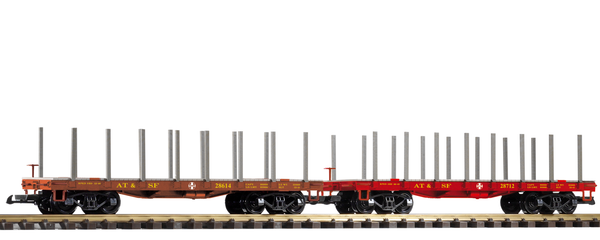 38773 SF Flatcar 2-Pack (G-Scale)
