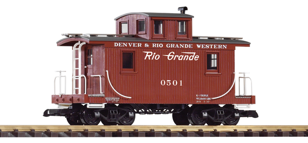 38907 D&RGW Wood Caboose 0501 (G-Scale)