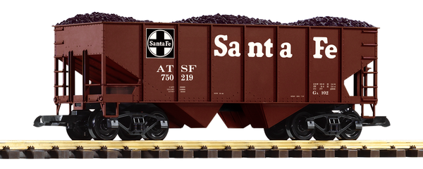 38918 Santa Fe Rib-Side Hopper Car (G-Scale)