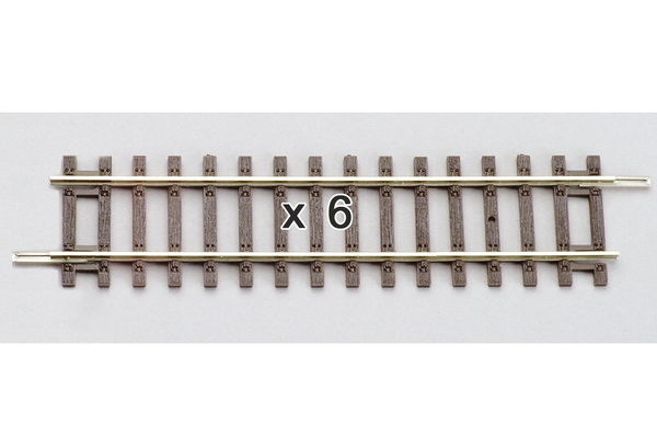"55202 Box of 6 Straight Track, 4.7"" (HO-Scale)"