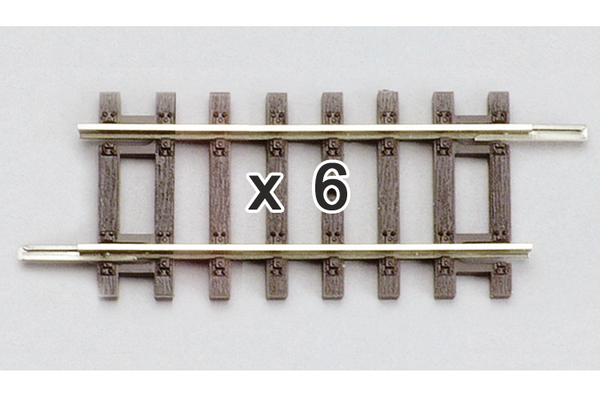 "55203 Box of 6 Straight Track, 4.5"" (HO-Scale)"