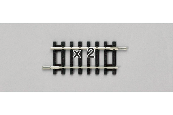 "55208 Pair of Adapter Tracks for Code 100, 2.4"" (HO-Scale)"