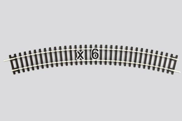 55214 Box of 6 Curved Track, R4/30° (HO-Scale)