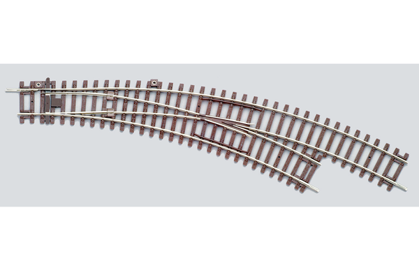 55223 Right Curved Switch BWR, R2/R3 (HO-Scale)