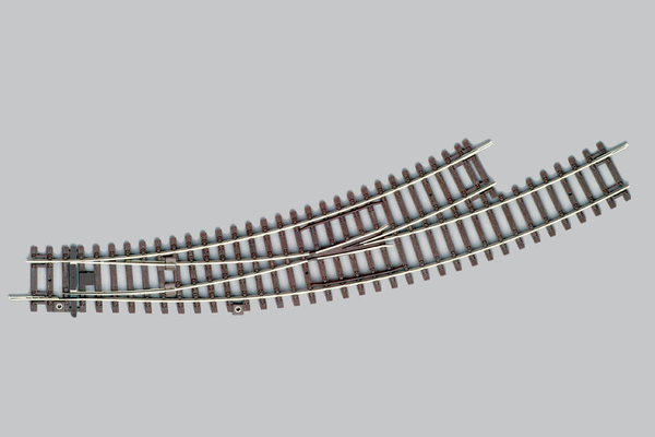 55227 Left Curved Switch BWL, R3/R4 (HO-Scale)