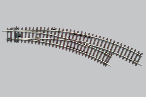 55228 Right Curved Switch BWR, R3/R4 (HO-Scale)