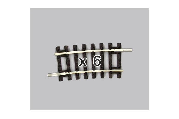 55252 Box of 6 Curved Track, R2/7.5° (HO-Scale)