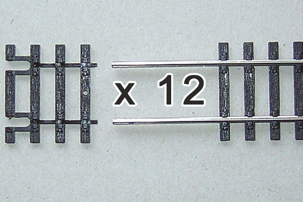 55282 Box of 12 Flex Track End Ties 31mm Long (HO-Scale)
