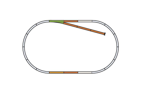 55311 Roadbed A-Track, Set B (HO-Scale)