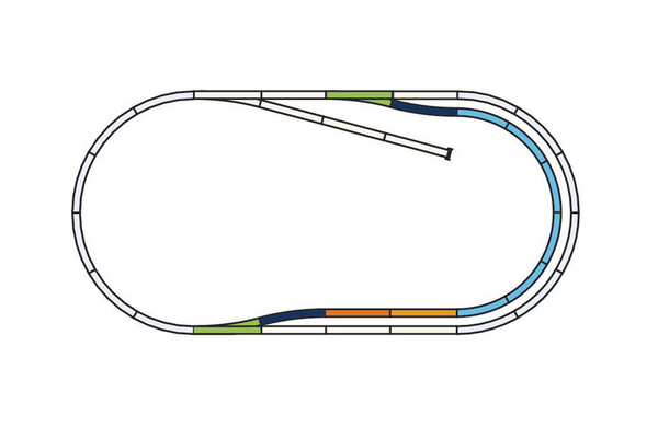 55321 Roadbed A-Track, Set C (HO-Scale)