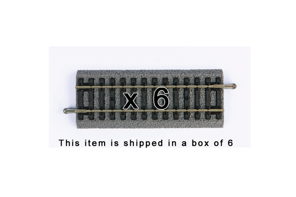 "55404 Box of 6 Roadbed A-Track Straight, 4.2"" (HO-Scale)"