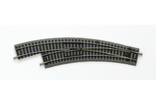 55422 Roadbed A-Track Left Curved Switch BWL, R2/R3 (HO-Scale)
