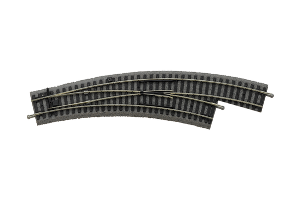 55423 Roadbed A-Track Right Curved Switch BWL, R2/R3 (HO-Scale)