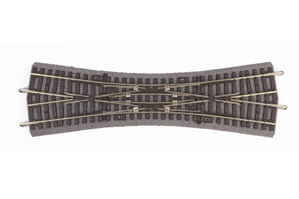 55424 Roadbed A-Track Double Slip Switch DKW, 15° (HO-Scale)