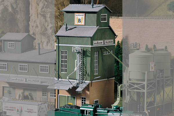61114 Classic Line Billinger's Co-Op Elevator, Building Kit (HO-Scale)